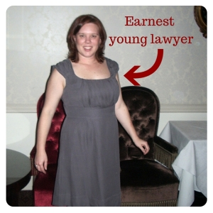 Rebecca the earnest young lawyer